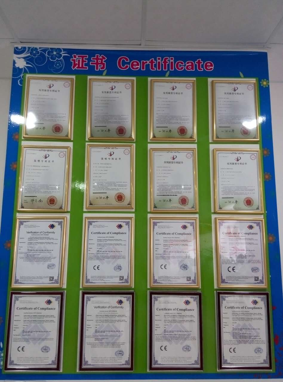 car wash machine certificates