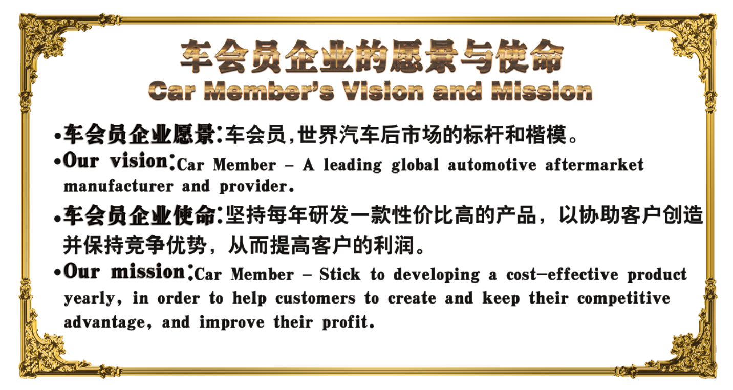 car member vision and mission